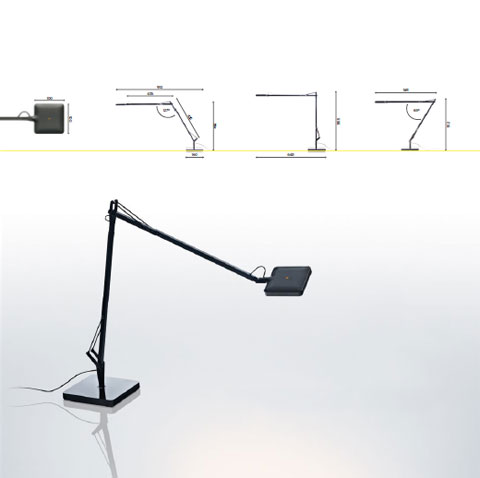 led task lamp kelvin 61 - FLOS Kelvin LED collection: warm light and human comfort
