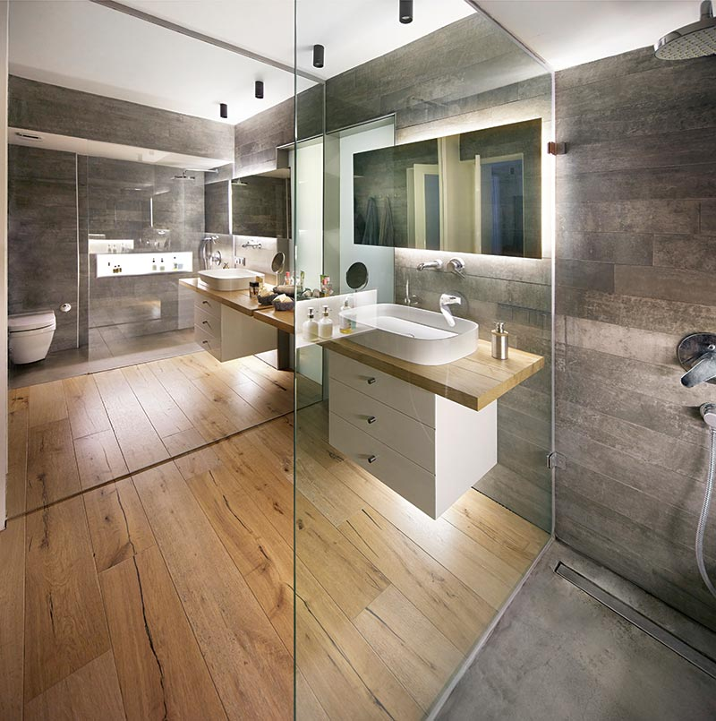 live work studio bathroom design ym2 - Studio Loft