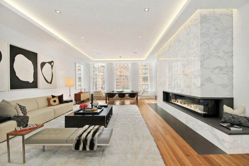 Luxury loft apartment design in greenwich village new york for How to decorate a loft apartment