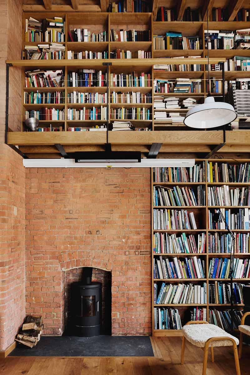loft apartment fireplace design eea - Charlotte Road
