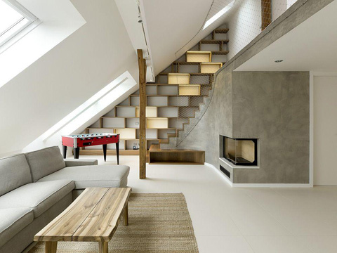Rounded Loft Apartment In Prague Clever Curves