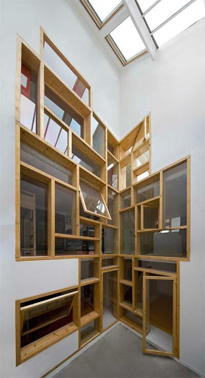 loft design paris windows - Loft in Paris: windows treatment