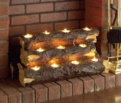 Log Light: A Fireplace Replacement - Candles & Holders