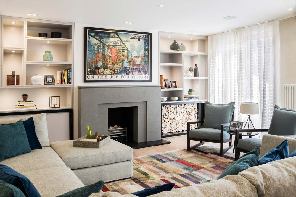london townhouse living room - Highgate Hill Townhouse
