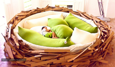 Giant Birdsnest Lounge In Nature Furniture