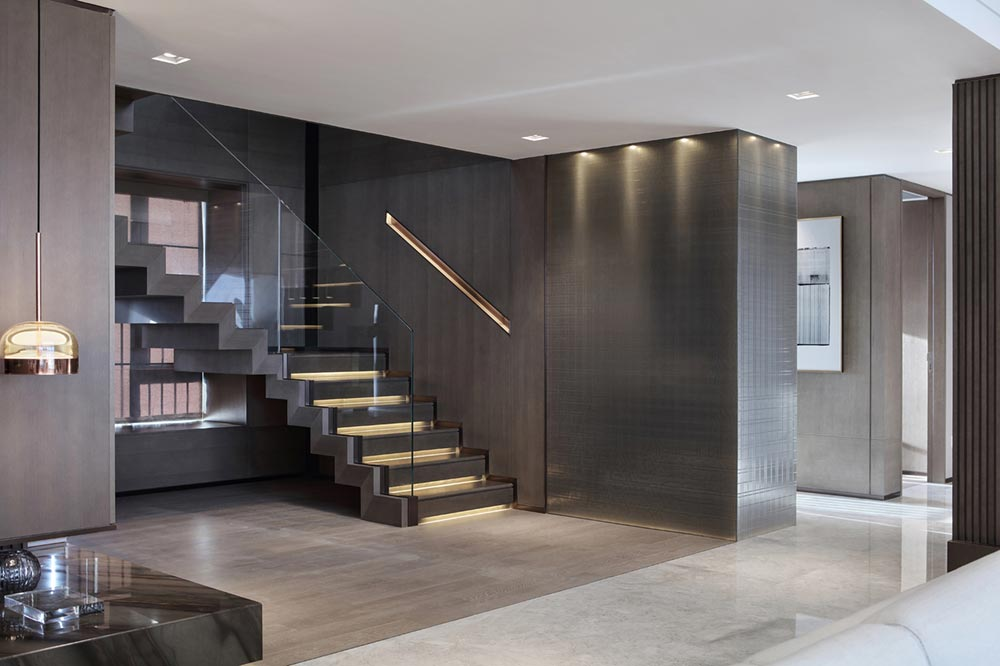 luxury apartment interior design stairs ccd - Mangrove Bay Residence