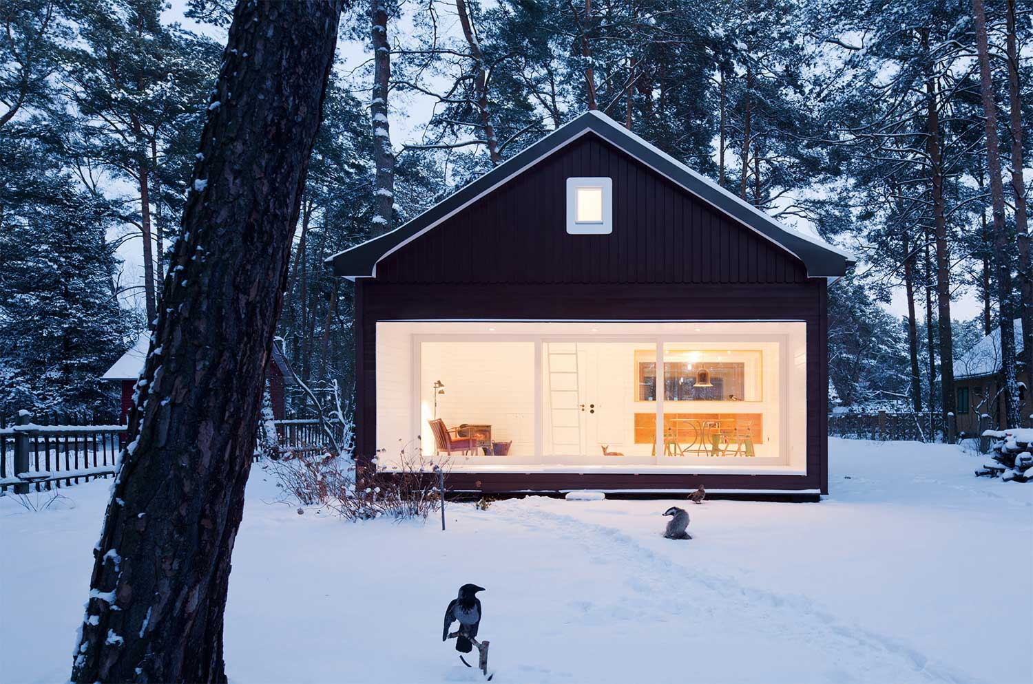 Waldhaus cabin timeless architecture modern cabins for Contemporary cabin