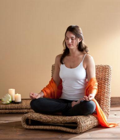 Meditation Chair Yoga Hyacinth