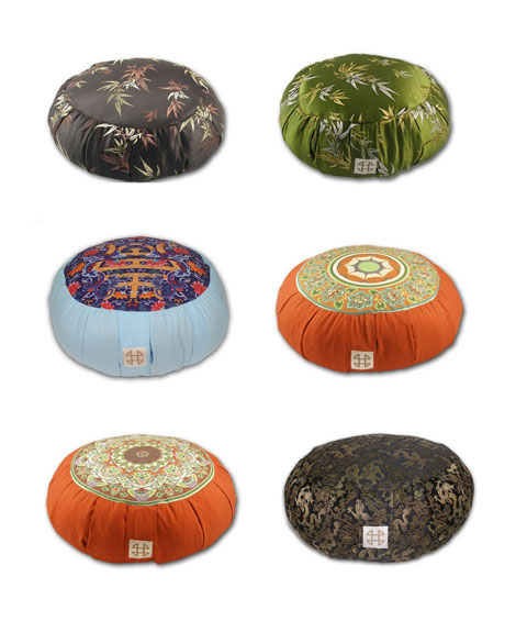 meditation-cushions-zafu - Zafu Meditation Cushions: Om - Yoga & Meditation
