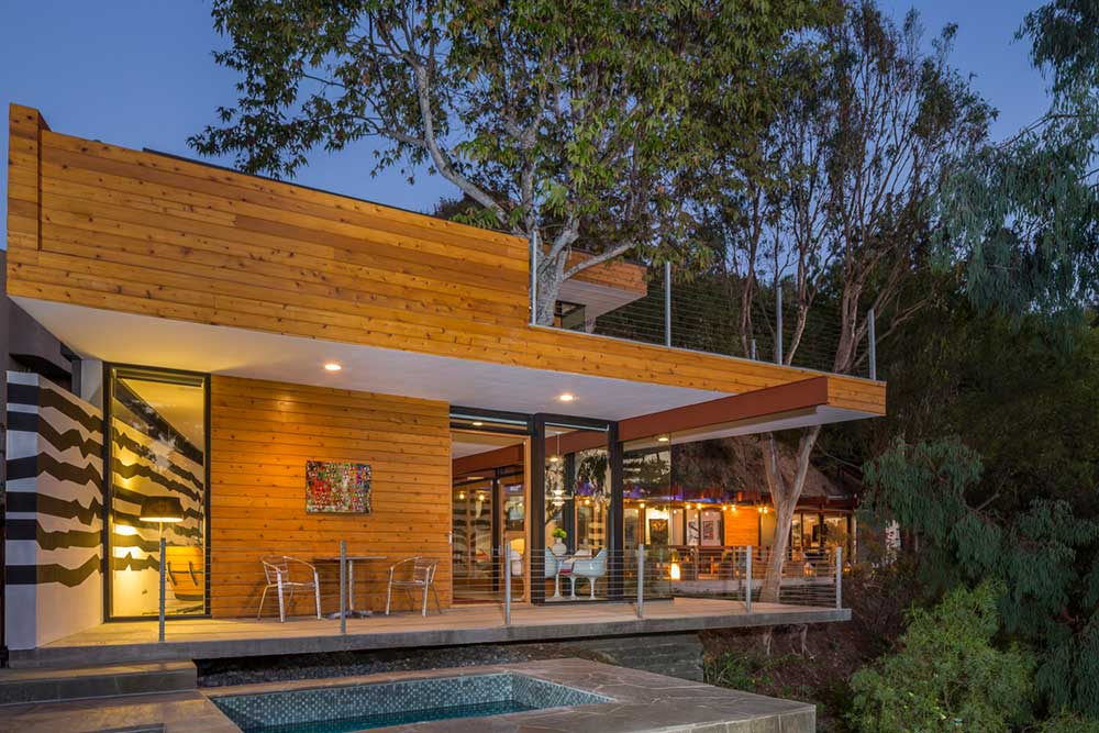 LA Mid-Century Modern Home With Trees Growing Through It