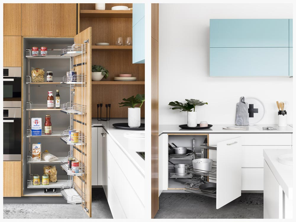 Swing Out Pantry and Corner Kitchen Cupboards