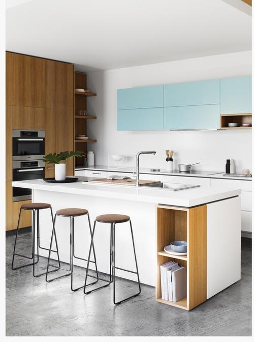 Minimalist Open Plan Kitchen Design