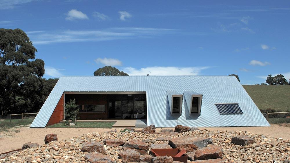 modern a frame house exterior ab - Tucks Ridge House