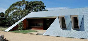 modern a frame house facade ab 300x140 - Tucks Ridge House