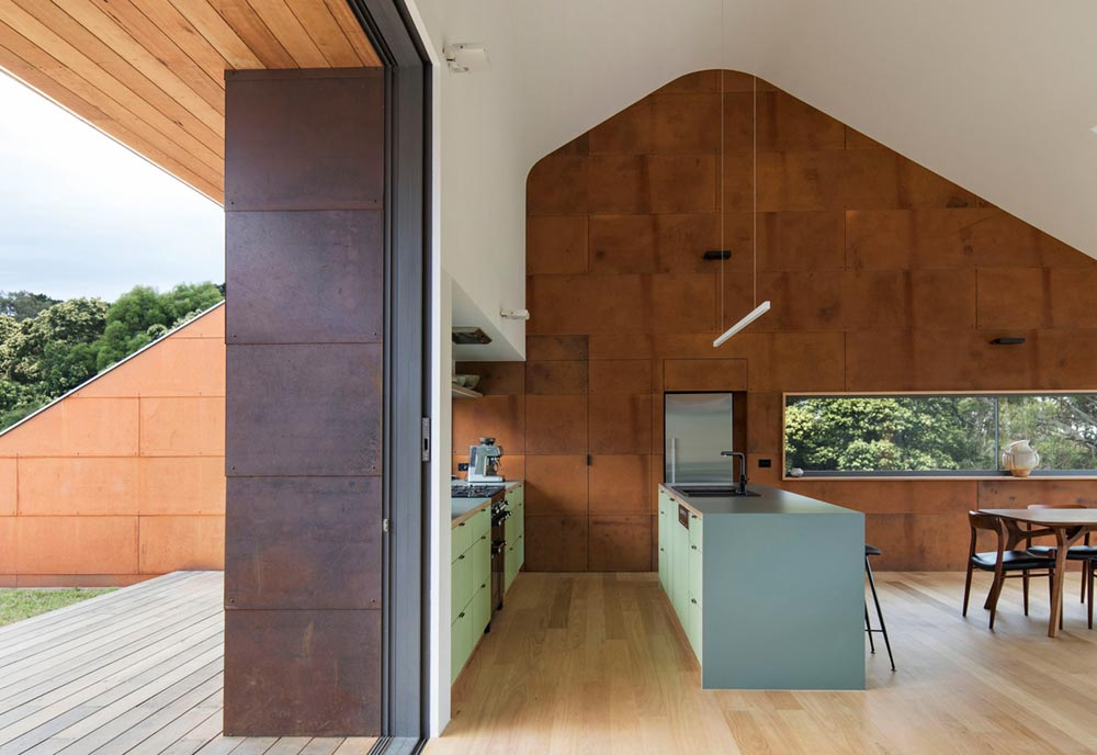 modern a frame house kitchen ab - Tucks Ridge House