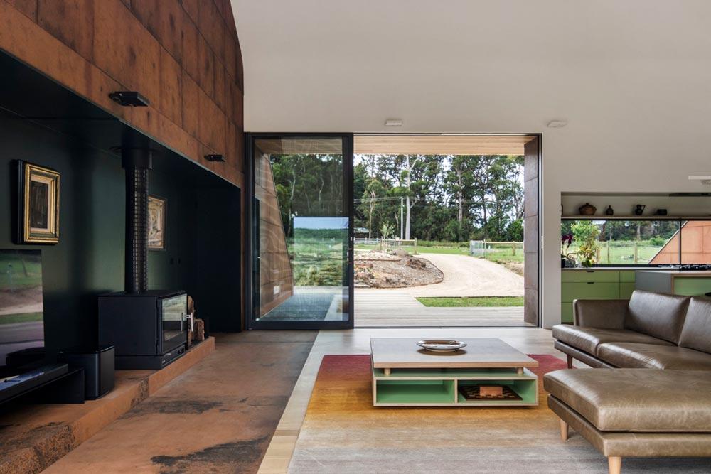 modern a frame house living ab - Tucks Ridge House