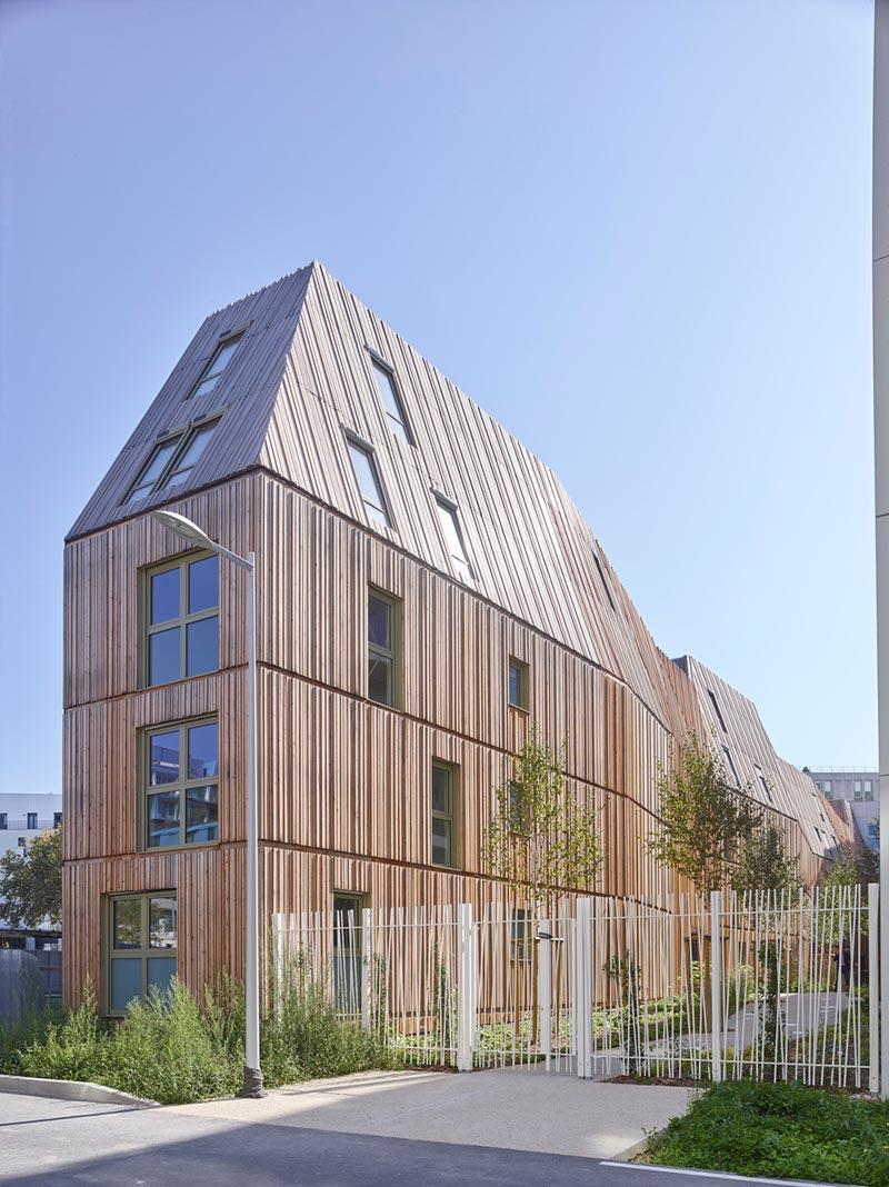 Amazing apartment building in Paris designed with a twist