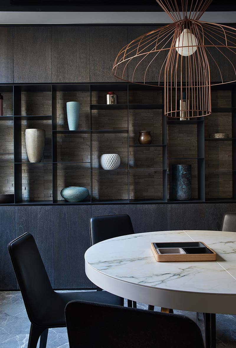 modern apartment design dining 2 - Black Soul Apartment