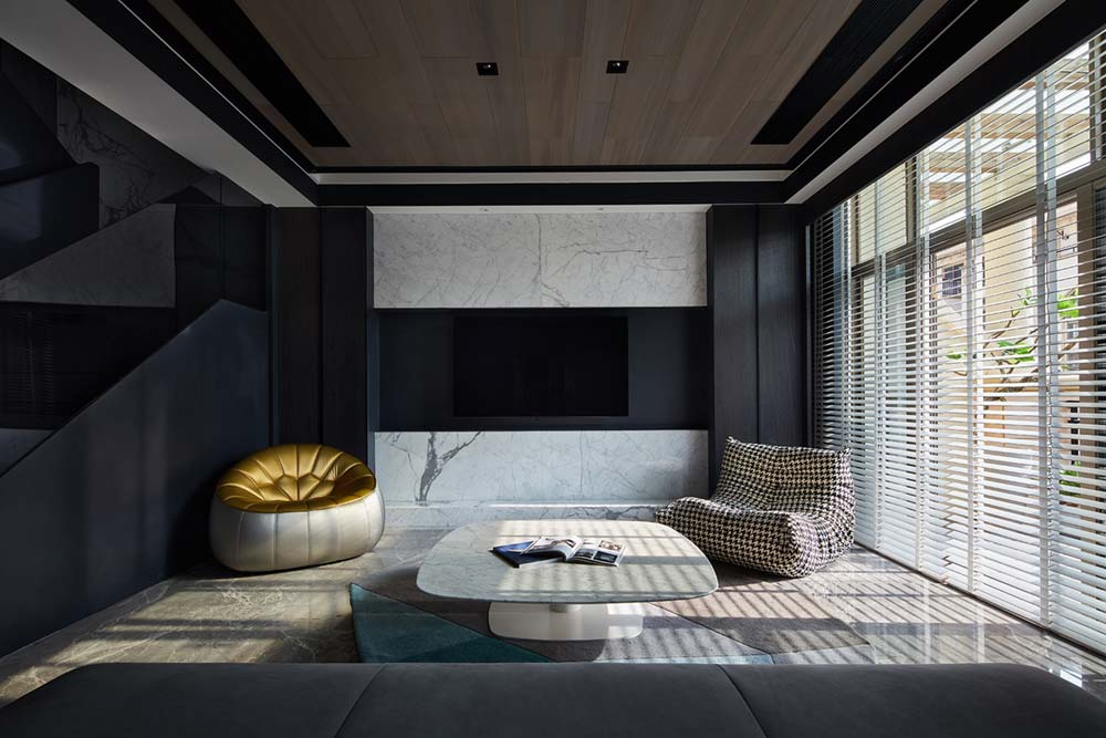 modern apartment design living - Black Soul Apartment