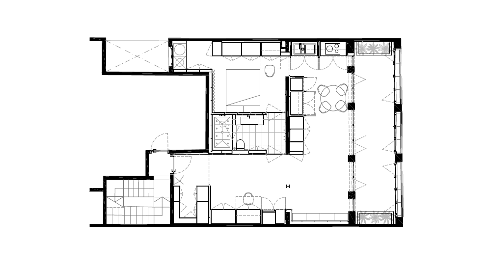 modern apartment interior design plan - Argentona Apartment