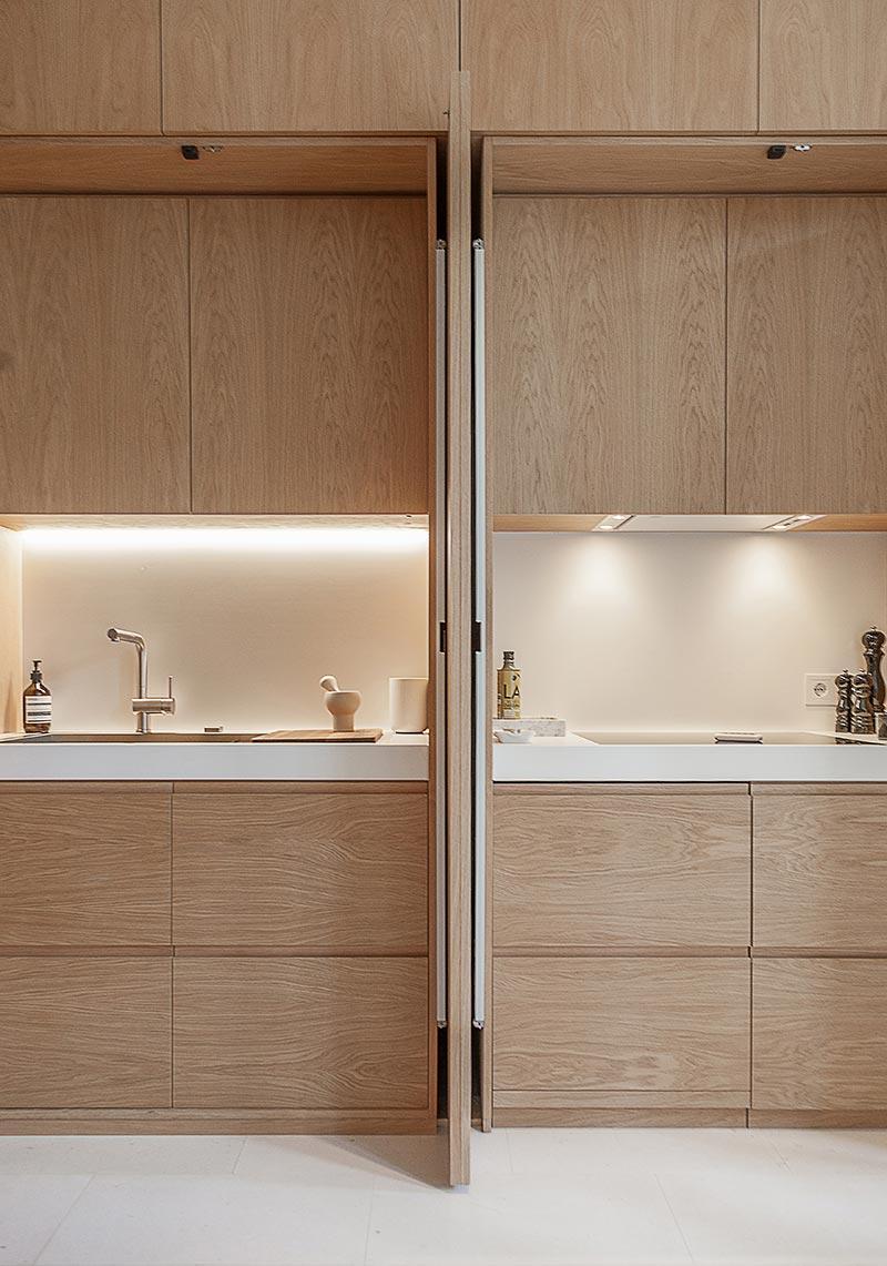 modern apartment kitchen design - Argentona Apartment
