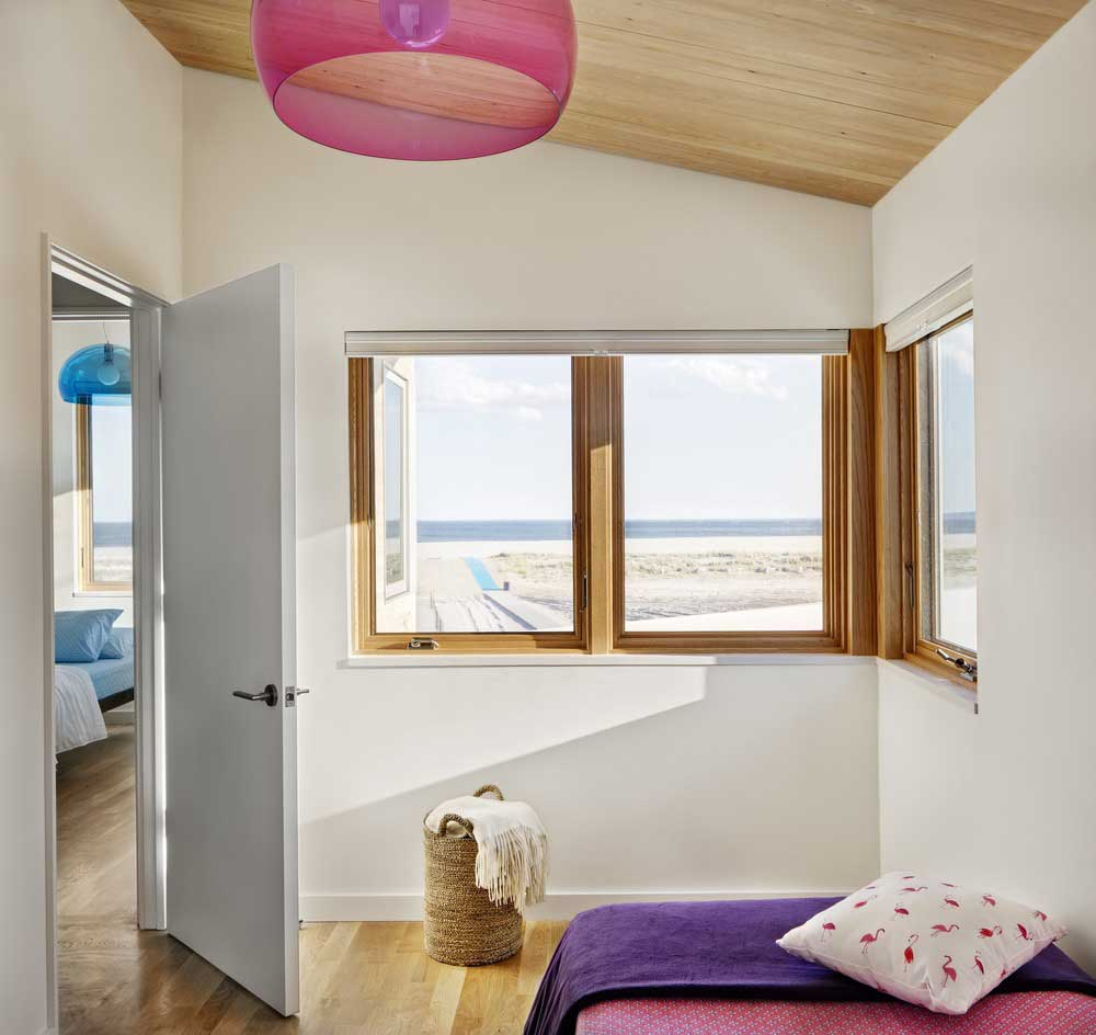 modern beach house child bedroom - Surfboard House