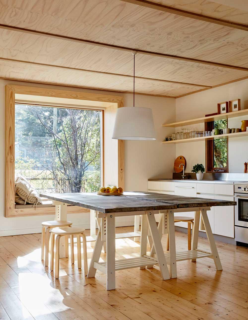 Modern beach shack dining table