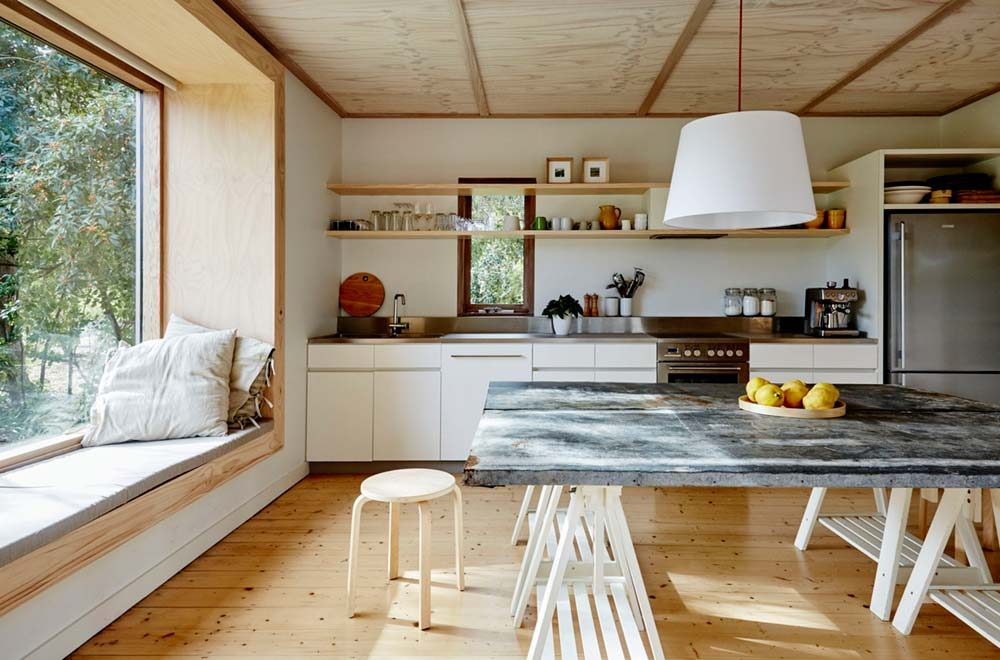 modern beach shack kitchen design - Modern Cabin Design