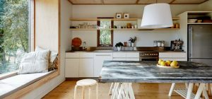 Modern beach shack kitchen design