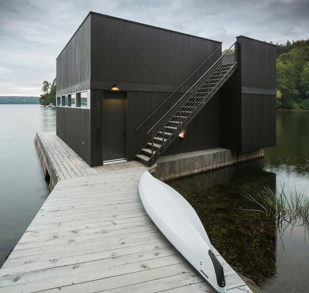 modern boathouse design mua - The Slender House