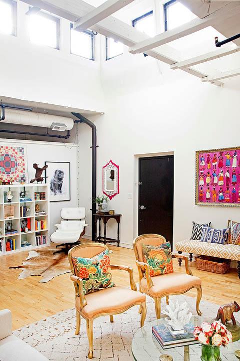 Modern Luxe Bohemian Loft Design