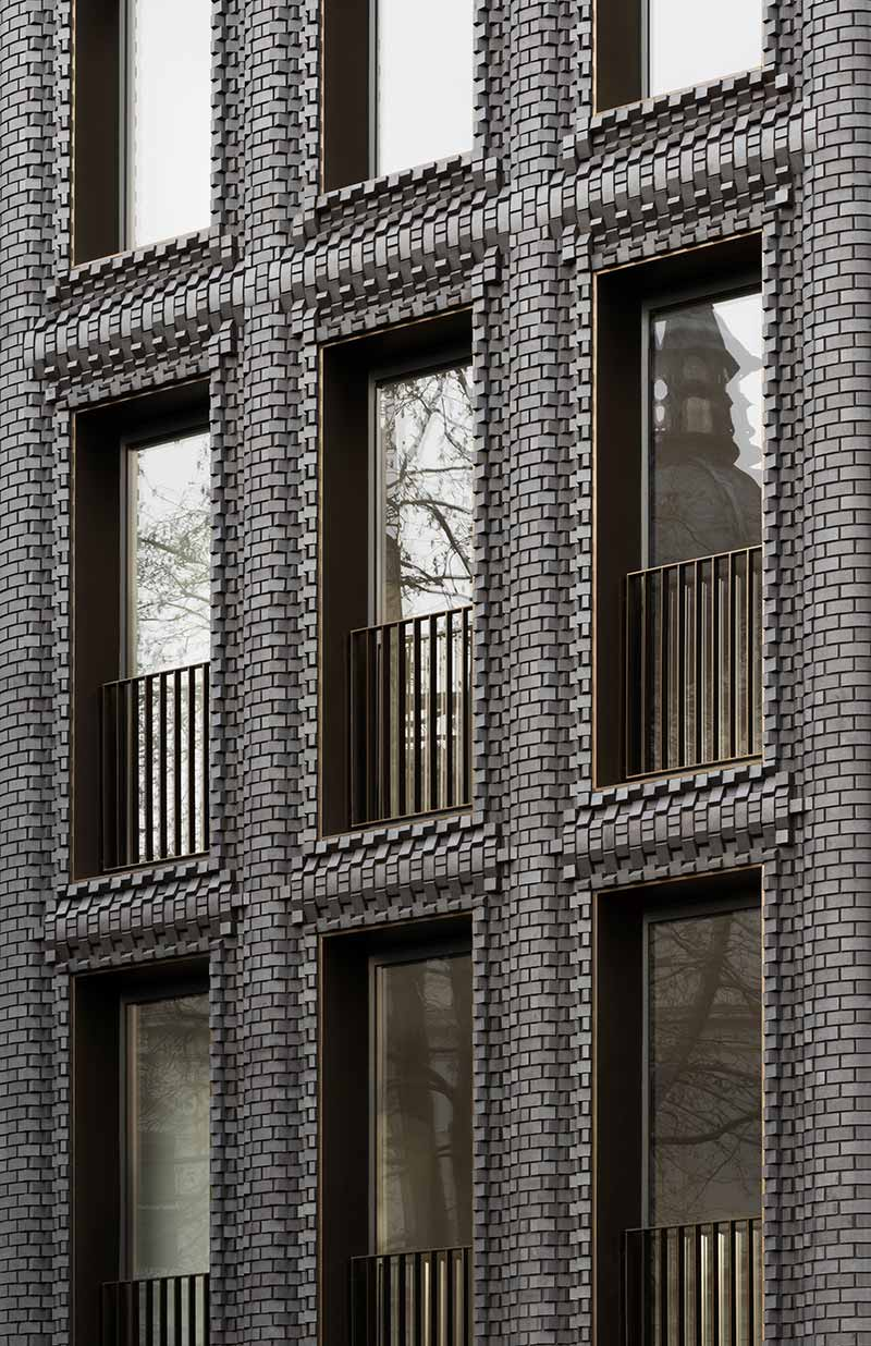 modern brick design black bdc - The Interlock