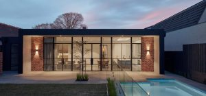 modern brick home pool 300x140 - Unbricked House