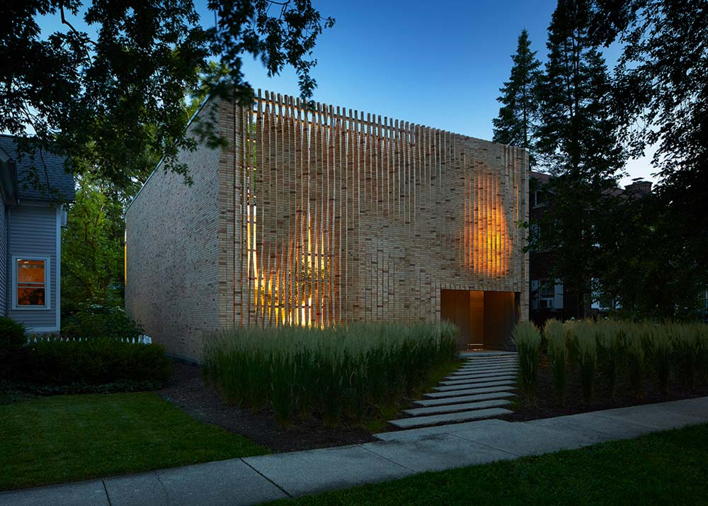 Modern Brick House Design in Chicago that Whimsically ...