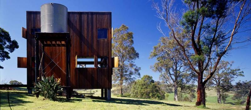 modern cabin box house 1 800x352 - Box House