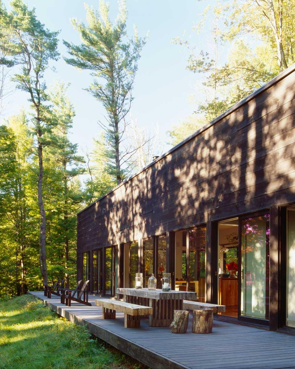 modern cabin deck design inc - Sixteen Doors Cabin
