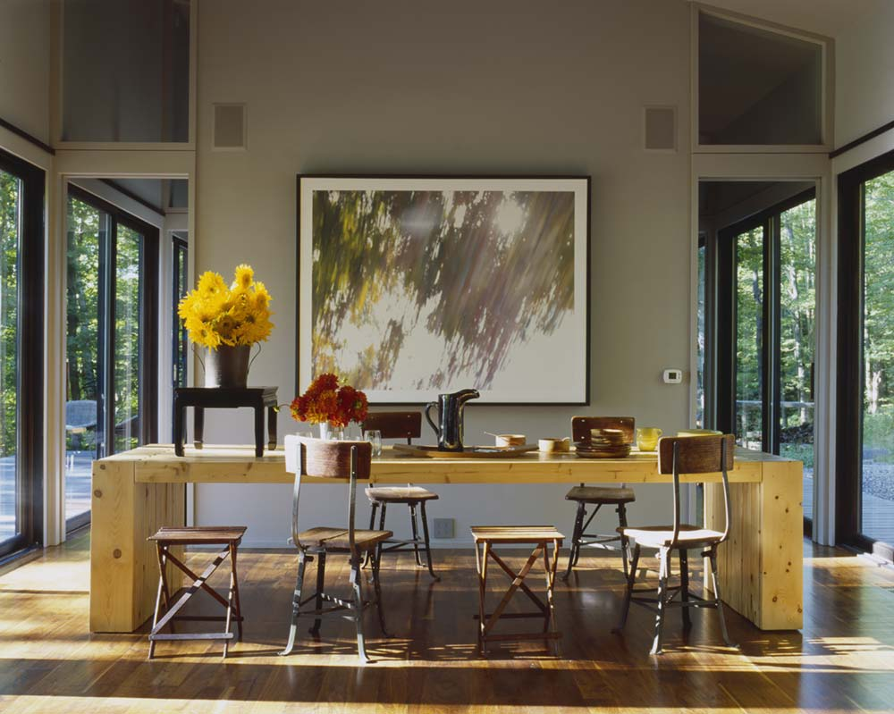 Modern Cabin In The Berkshires Designed Around Sixteen Glass Doors