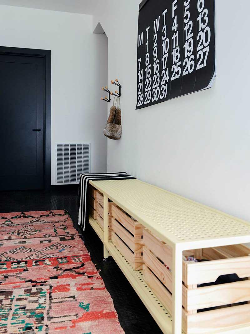modern cabin hallway design cw - Alpine Noir Chalet