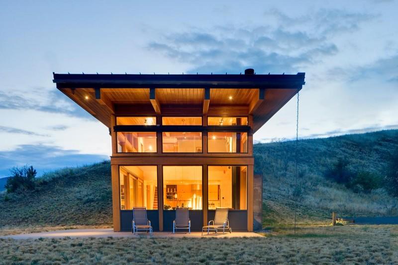 modern cabin nahahum 800x533 - Nahahum Canyon Residence