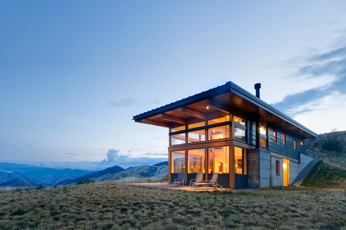 Nahahum canyon residence modern cabins for Home plans washington state