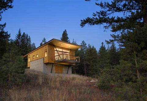 Modern cabin a forest retreat to pine for modern cabins for Modern cabin homes