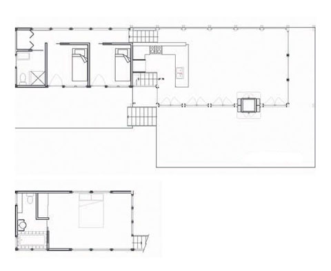 modern cabin plan shawanaga1 - Foreman Point: as the level drops