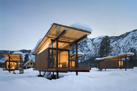 Modern Cabin Rolling Huts