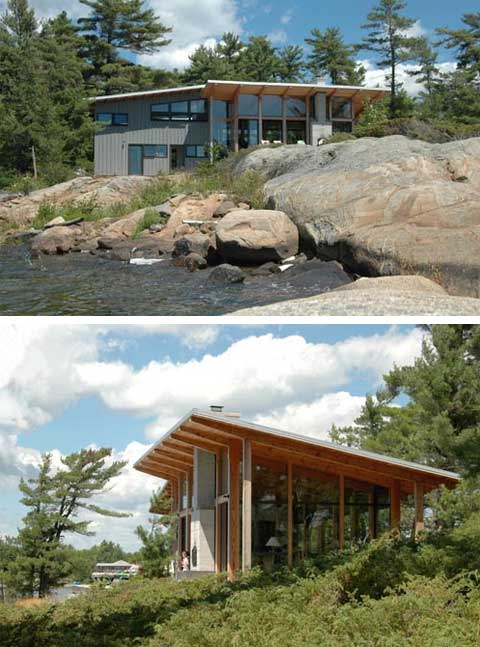 Shawanaga bay cabin a small coastal cottage coastal for Cottage designs ontario