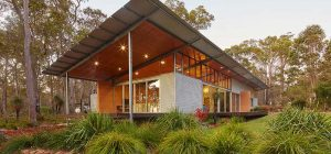 modern cabin steel design side 300x140 - Bush House