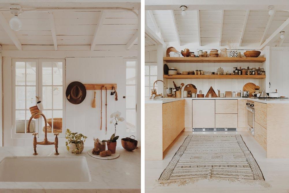 Modern cabin kitchen design