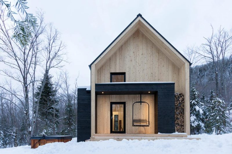 Modern Mountain Cabin Scandinavian-Inspired For Small Family