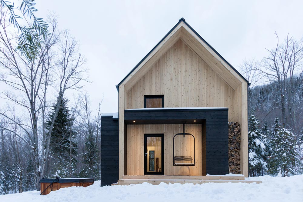 Modern Mountain Cabin Scandinavian Inspired For Small Family