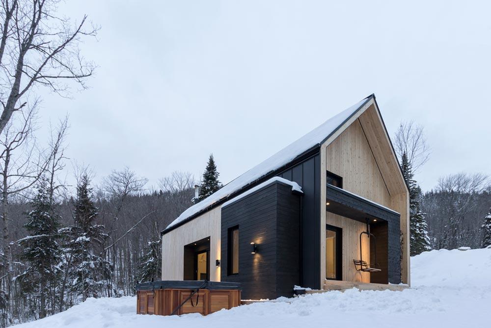 Modern Mountain Cabin Scandinavian-Inspired for Small Family