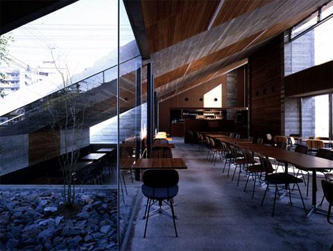 modern cafe lamiell 4 - Cafe La Miell: A Landscape Cafe